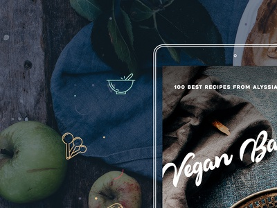 Vegan Baker website promo cookbook vegan baking
