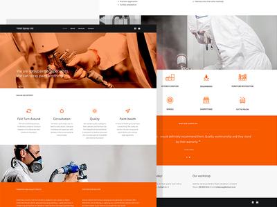 Spraying Co painting spraying ui design website web orange