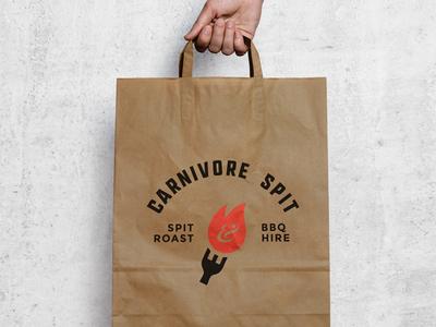 Carnivore Spit Logo branding logo bbq flame carnivore