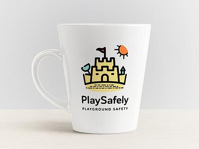 Play Safely playground auckland newzealand safety sandbox kids logo branding
