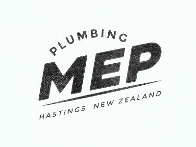 MEP Logo new zealand vintage construction branding logo plumbing