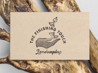 The Finishing Touch Logo vintage logomark gardening logo