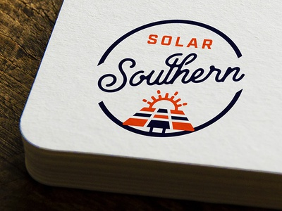 Solar Southern orange southern eco green energy solar logo branding