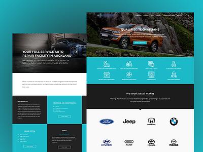 Mairnagi Automotive cyan layout car service website vehicle car automotive