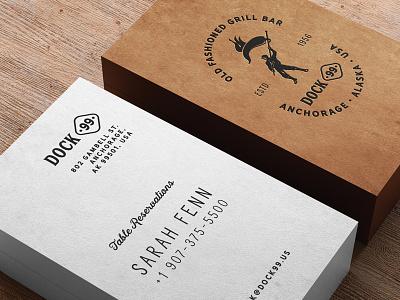 Dock 99 Business Cards business card print bbq bar steak restaurant design menu