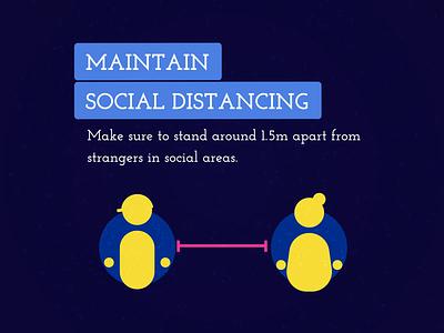 Social Distancing illustrations people social network covid19 coronavirus corona social distancing design loop branding animation illustrator 2d illustration icon flat vector