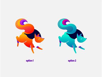 Color Options corsac fox corsac iconography folio brand identity shape gradient flat illustrator illustration vector icon fox color logo brand branding