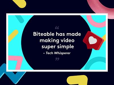 Biteable Testimonial Video Template flat design branding 2d loop illustrator animation vector illustration icon flat