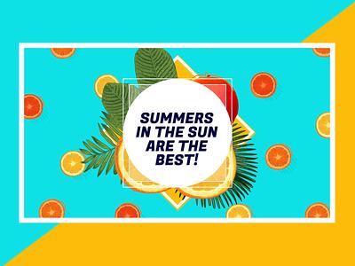 Summer Animation gif branding 2d loop illustrator animation vector illustration icon flat