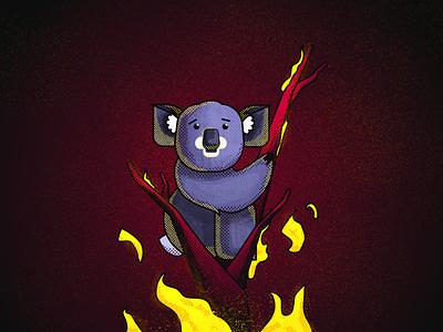 Australian Koalas need our help! Please help my country! australia branding icon flat vector illustration koala bear affinitydesigner affinity bushfires gumtree fires australian animals animals koalas koala