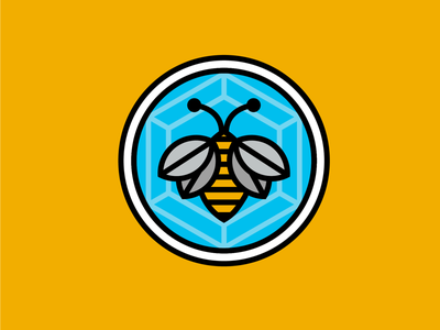 It's a Bee! minimal simple insect vector badge icon honey spring bee