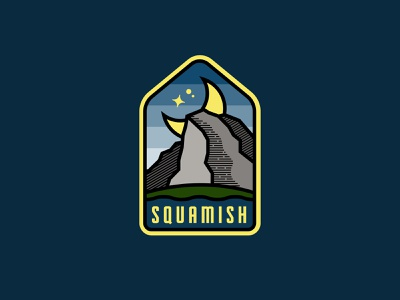 It's the Chief... at night. ocean aaronbrink vintage moon mountain badge chief squamish