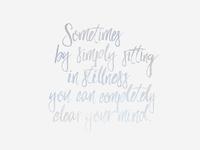 Sitting In Stillness Wallpaper