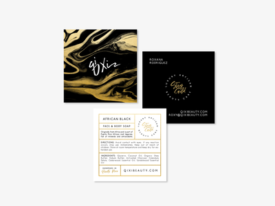 Business Card & Tag Design for Qi Xi
