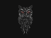 Owl Circle Art