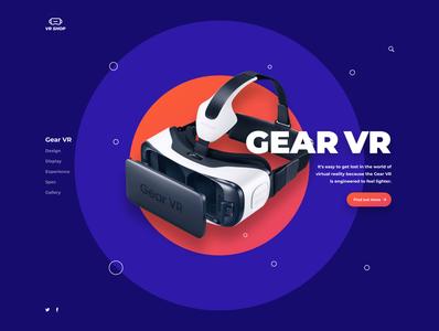 VR web ux minimal ui design