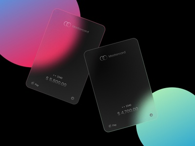 Glass Mastercard minimal ux ui design