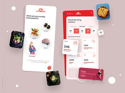Workout App app minimal design ux ui nutrition fitness app fitness