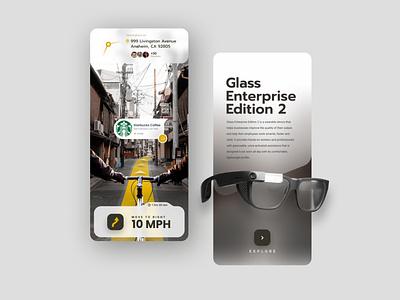 Google Glass minimal design app ux ui vr art google glass