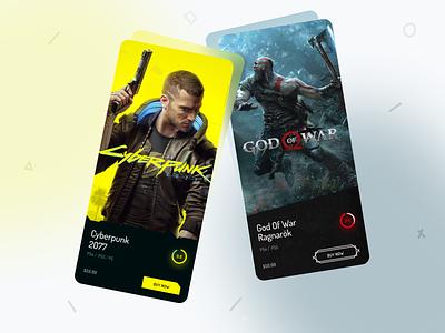PS5 App design minimal store app playstation store app ux ui play station 5