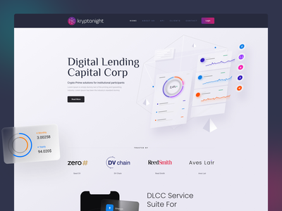Crypto Landing Page typography web branding illustration ux ui home page website design landing page layout cryptocurrency crypto