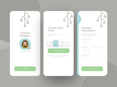 App Design typography illustration minimal app ux ui design password mobile app signup sign in