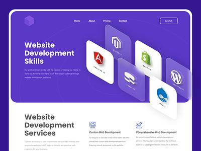 Website Development Hero Header webdesign illustration vector minimal web ui design ux banner landing page website website development hero header