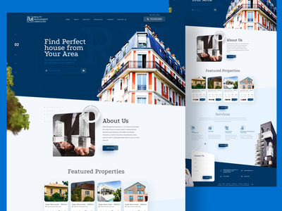 Property Landing Page website vector illustration web minimal ui ux design landingpage property landing page homepage