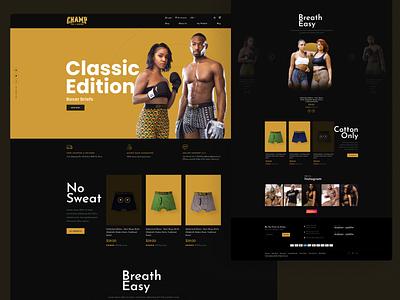 Landing Page homepage ecommece ecommerce design boxing website web ui design ux hero image webdesign landing page