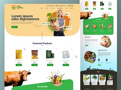 Grocery Landing Page food website landing page web