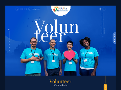 Volunteer Hero Header help ngo hero header header web minimal ux design ui