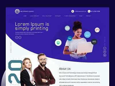 IT Company Hero Header banner hero header web minimal ux design ui