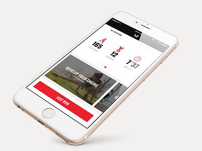 Fitness App Concept ios fitness