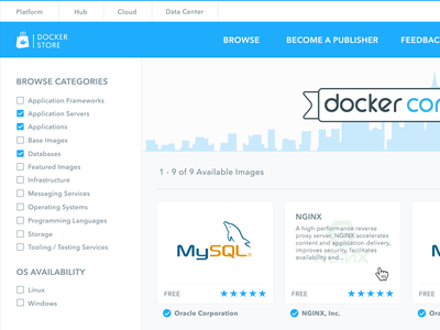 Docker Store Redesign Concept containers docker