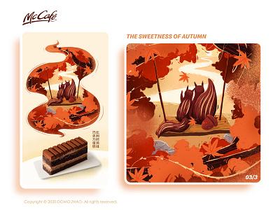 Autumn 03/3 squirrel autumn leaves autumn festival character web poster illustration