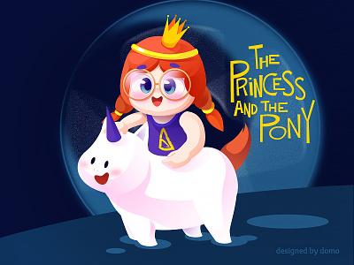 Princess pony horse moon princess festival monster music web poster illustration