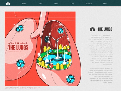 A Small Garden In The Lungs wind fresh running lungs lung ui web poster illustration