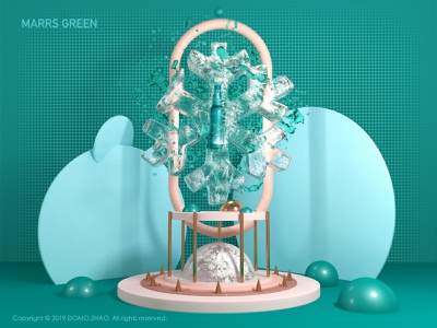 Marrs Green snow festival water beer ice web poster illustration 3d c4d