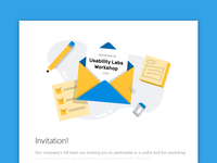 Invitation email illustration