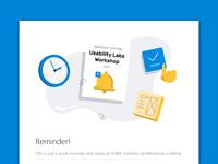Reminder email illustration
