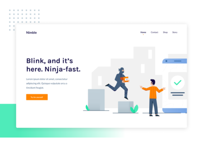 Fast delivery - Nimble illustrations 🤸