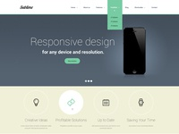 Sublime - HTML/CSS Template Design