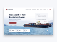 Logistics Website Animation