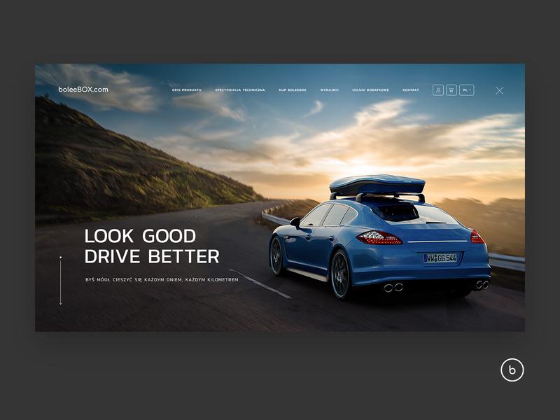 Bolee Homepage 1/4 auto automotive box car e-commerce webdesign ux ui design web