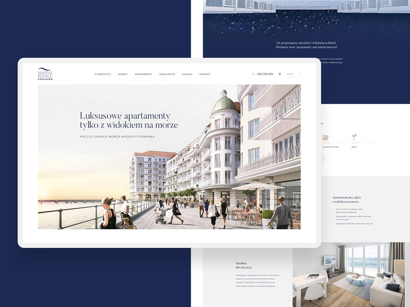 Marina Royale user experience user interface royal royale marina marine marinal sea webdesign design branding ux ui web