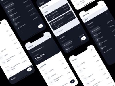 Finance Tracker App Wireframes