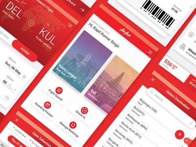 Flight booking app design concept
