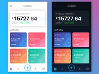 Cyptocurrency App Dashboard