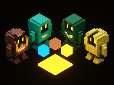 Voxel Robots robots voxels voxel