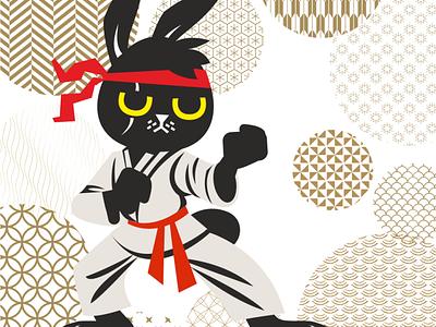 Propuesta KATA juego de mesa coreldraw vector illustration